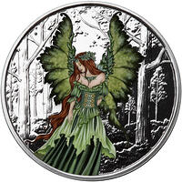 lady of the forest 1oz Proof colorized