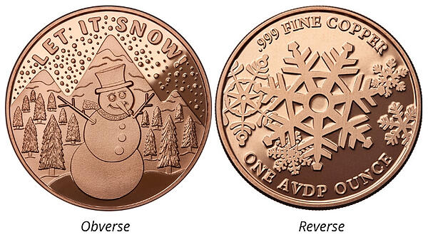 Let it snow snowman-Osborne Mint Christmas Collection Page image