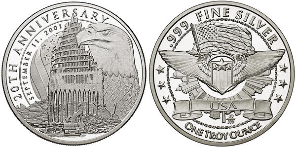 Sept 11 and common reverse silver