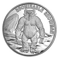 Yeti in solid silver from the cryptid series
