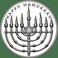 Happy Hanukkah - silver