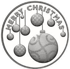 Merry Christmas ornaments - silver