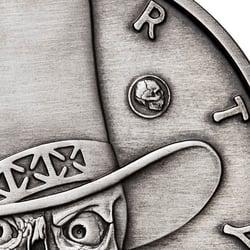 American Skull - Gambler Antique privy mark close up-1