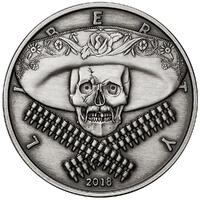 American Skull - Mexican Bandito Antique