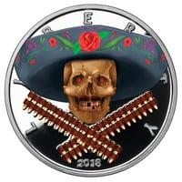 American Skull - Mexican Bandito COLOR OVERLAY