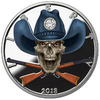 American Skull - Sheriff Proof colorized badge cutout APPROVED