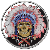 American-Skull---Indian-Chief-1oz-Colorized